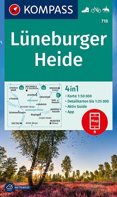 KOMPASS Wanderkarte Lüneburger Heide 1:50 000
