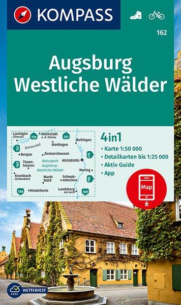 KOMPASS Wanderkarte 162 Augsburg, Westliche Wälder