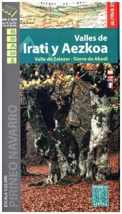 Valles de Irati y Aezkoa Wanderkarte 1:25 000