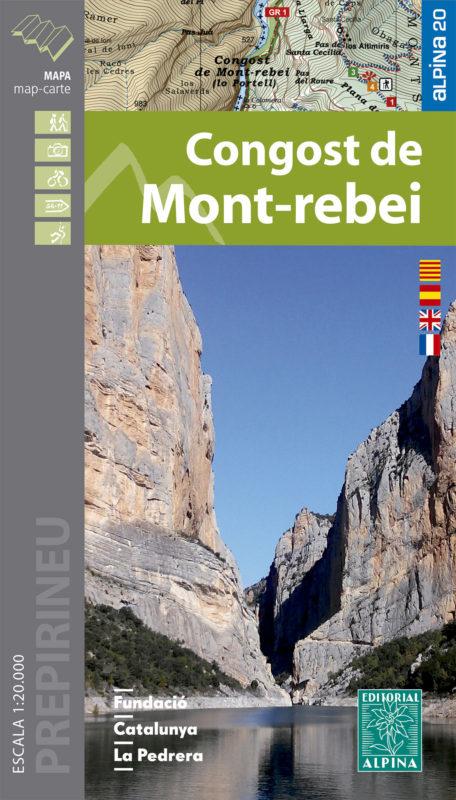 Wanderkarte Congost de Mont-rebei 1:20 000