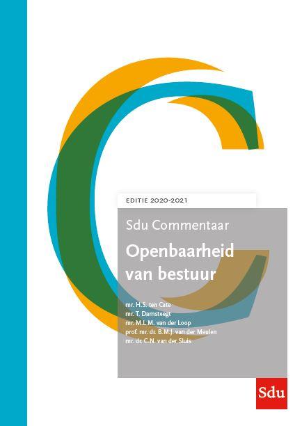 SDU Commentaar Openbaarheid van bestuur