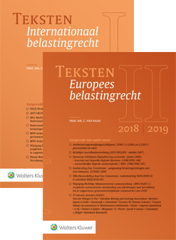 Teksten Internationaal & Europees Belastingrecht