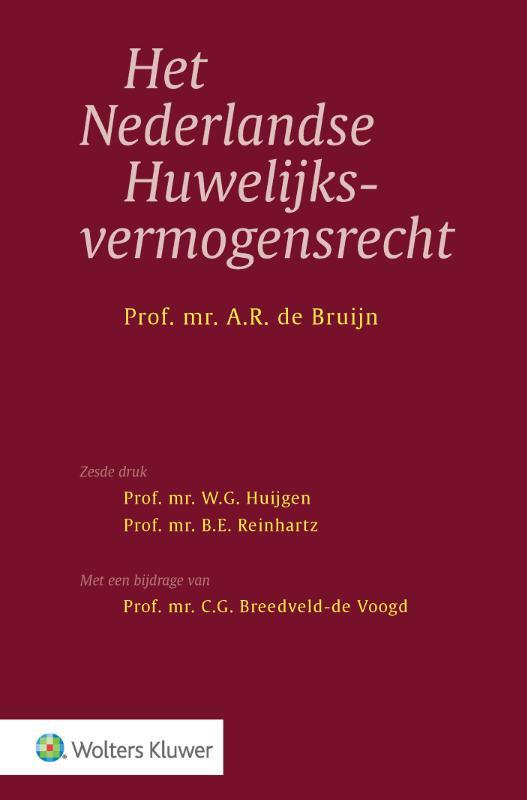 Nederlandse huwelijksvermogensrecht (Bruijn)