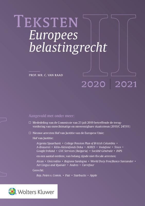 Teksten Europees belastingrecht