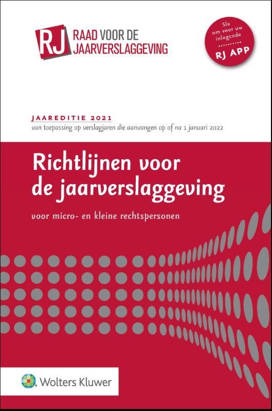 Richtlijnen voor de jaarverslaggeving voor micro- en kleine rechtspersonen