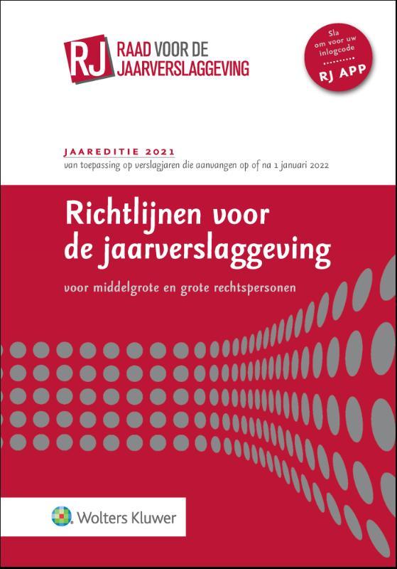 Richtlijnen voor de jaarverslaggeving voor grote en middelgrote rechtspersonen (ingenaaide editie)