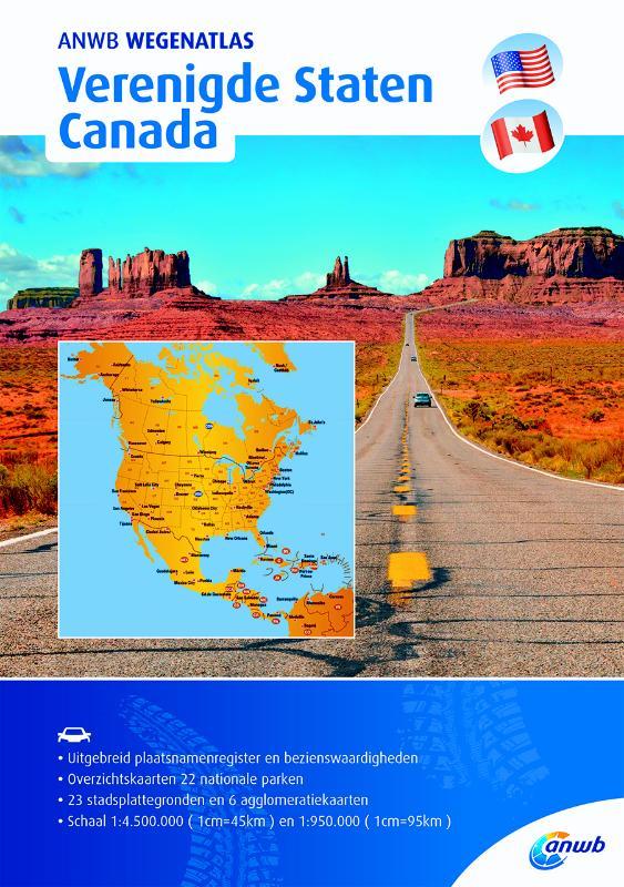 Wegenatlas Verenigde Staten/ Canada