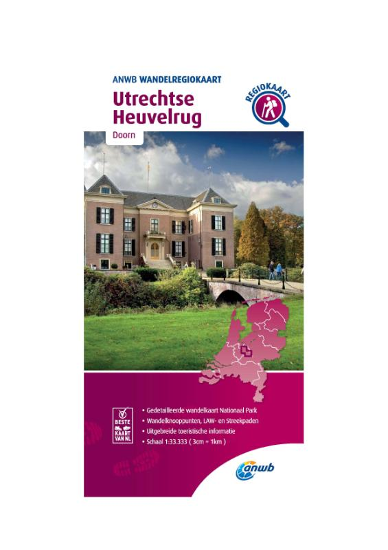 Wandelregiokaart Utrechtse Heuvelrug 1:33.333