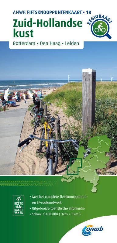 Fietsknooppuntenkaart Zuid-Hollandse kust 1:100.000
