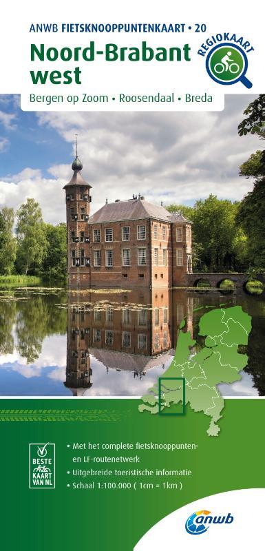 Fietsknooppuntenkaart Noord-Brabant west 1:100.000