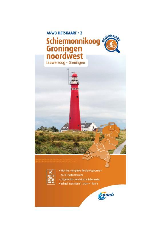 Fietskaart Schiermonnikoog, Groningen noordwest 1:66.666