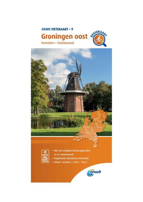 Fietskaart Groningen oost 1:66.666