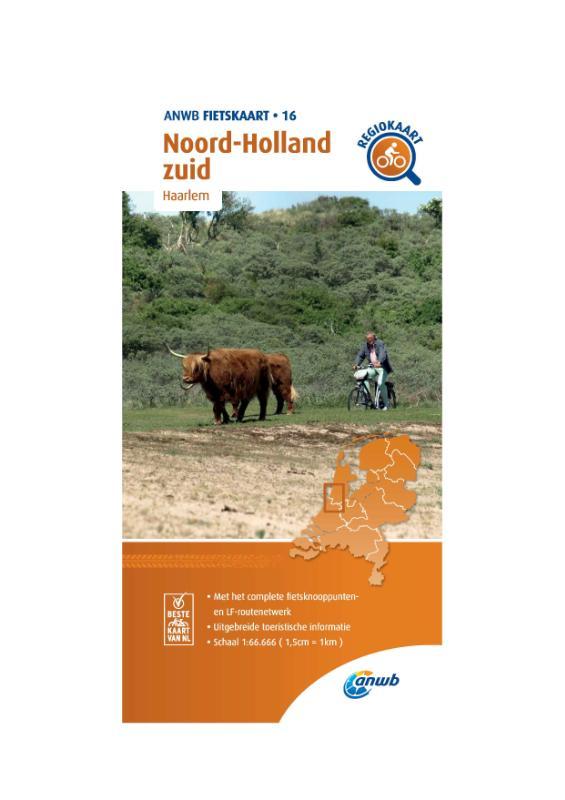 Fietskaart Noord-Holland zuid 1:66.666