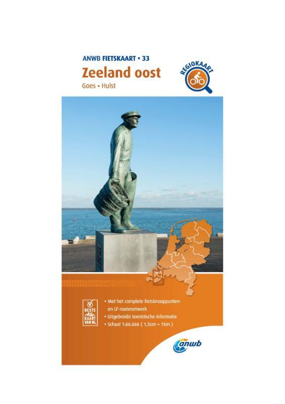 Fietskaart Zeeland oost 1:66.666