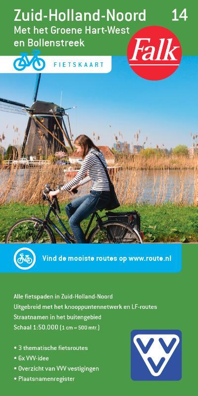 Falk VVV fietskaart 14 Zuid-Holland Noord