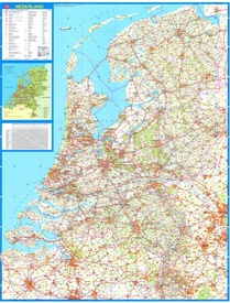 Falk wandkaart Nederland 2017-2019, 86e druk Afmeting B = 100 cm x H = 130 cm