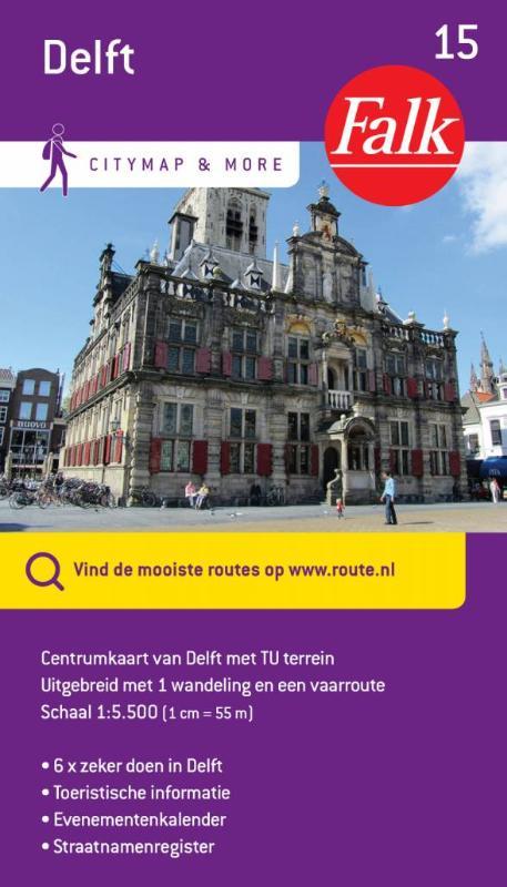 Falk city map & more 15 Delft 1e druk recente uitgave
