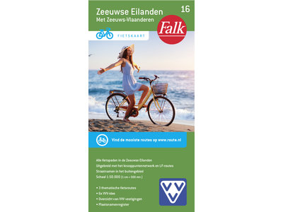 Falk VVV fietskaart 16 Zeeuwse Eilanden