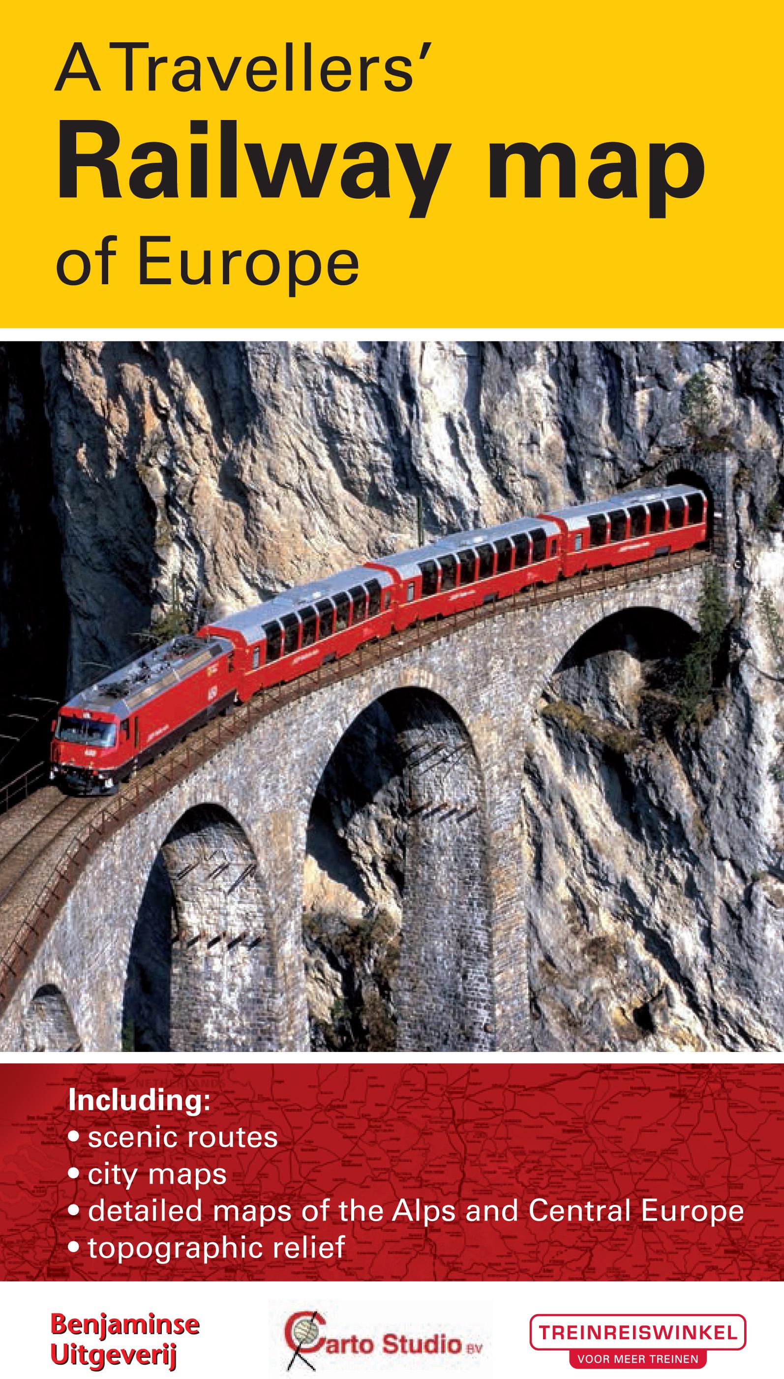 Europe Railway traveller's map
