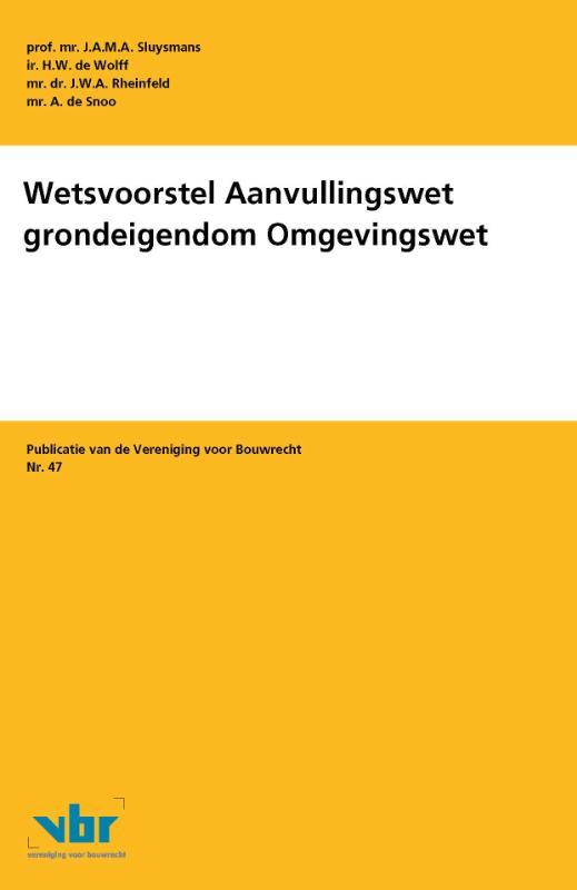 Publicatie van de Vereniging voor Bouwrecht
