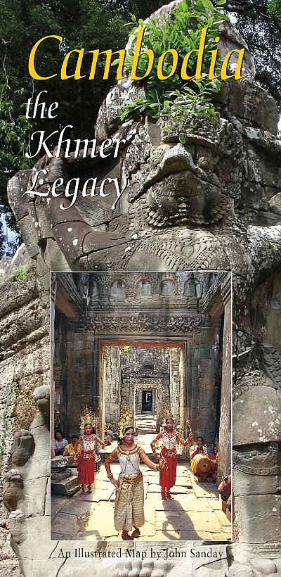 Cambodia The Khmer Legacy map