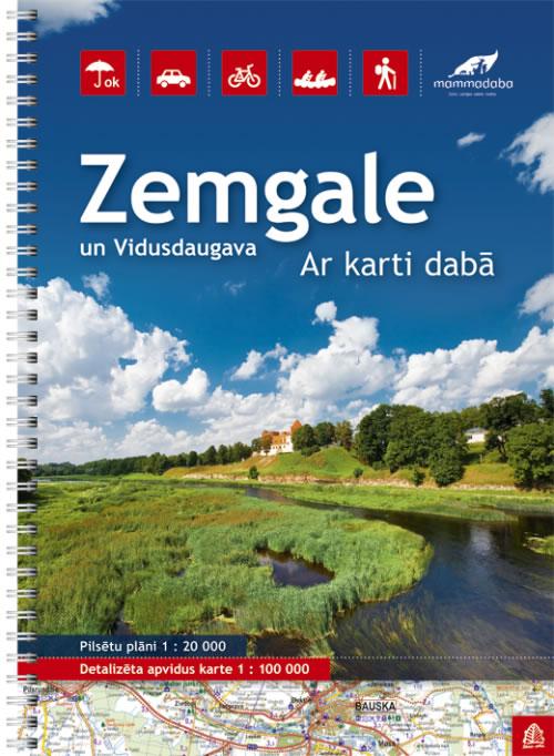 Zemgale (Zuid-Letland) regionale toeristische atlas sp.