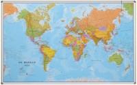 Wereldkaart Politiek Nederlandstalig Maps International - Groot - Magneetbord