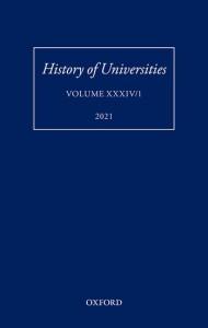 History of Universities: Volume XXXIV/1