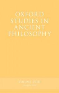 Oxford Studies in Ancient Philosophy, Volume 58