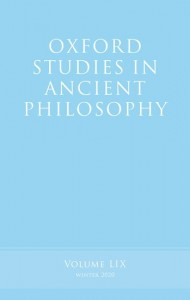 Oxford Studies in Ancient Philosophy, Volume 59