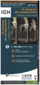 St-Jacques de Compostelle. Moissac-Roncevaux. Découverte des chemins 1:100.000