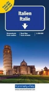 Strassenkarte Italien 1:650 000, Nord + Süd