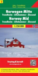 FuB Norwegen 02 Mitte 1 : 250 000. Auto- und Freizeitkarte