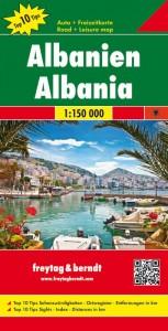 Albanië 2-zijdige toeristische wegenkaart 1:150.000