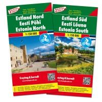 F&B Estland West en Oost 2-kaartenset