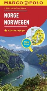 MARCO POLO Länderkarte Norwegen 1:800 000