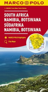 MARCO POLO Kontinentalkarte Südafrika, Namibia, Botswana 1:2 000 000