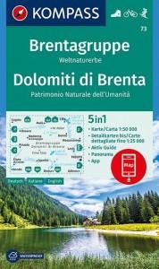 Brentagruppe, Weltnaturerbe, Dolomiti di Brenta 1:50 000