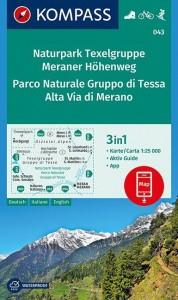 Naturpark Texelgruppe, Meraner Höhenweg, Parco Naturale Gruppo di Tessa, Alta Via di Merano 1 : 25 000