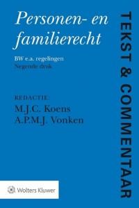Tekst & Commentaar Personen- en familierecht, 9e druk