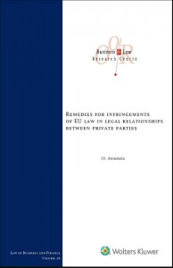 Remedies for infringements of EU Law legal relationships between private parties