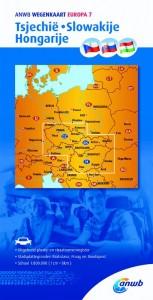 ANWB wegenkaart: Tsjechië-Slowakije-Hongarije