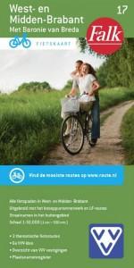 Falkplan fietskaart: Falk VVV fietskaart 17 West-en Midden Brabant 2017-2019, 9e druk met fietsknooppunten