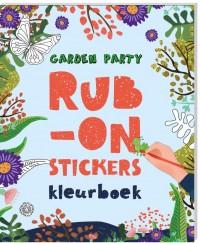 Rub-on-stickers Kleurboeken - Garden party